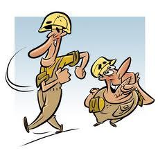 cartoon-bouwvakkers